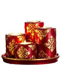 Weihnachtlicher Kerzenteller