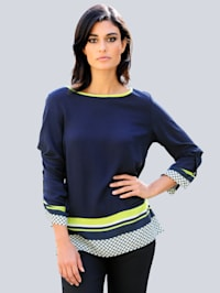 Bluse im exklusiven Alba Moda Print