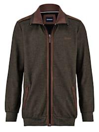 Sweatshirtjacka med carbonyta