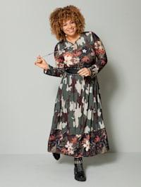 Maxi-jurk met patronenmix