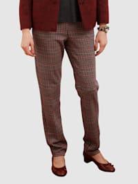Žerzej kalhoty se vzorem kohoutí stopy