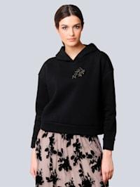 Sweatshirt in trendy boxy model