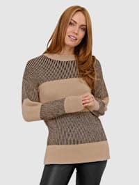 Raidallinen neulepusero