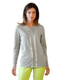 Sweatshirt met paillettenstrepen voor