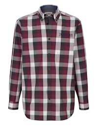 Chemise à broderie contrastante