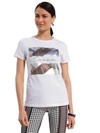 Shirt met folieprint