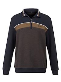 Sweatshirt met fijne jacquardstructuur