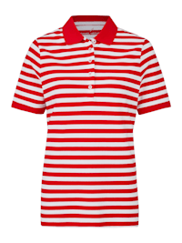 Sportives Poloshirt mit Streifen