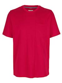 T-shirt met modieuze deelnaad