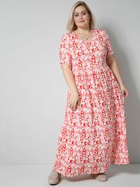 Jersey-Kleid in angesagter Maxilänge