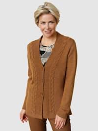 Vest met wol en gemêleerd garen