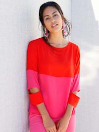 Bluse mit Colourblock