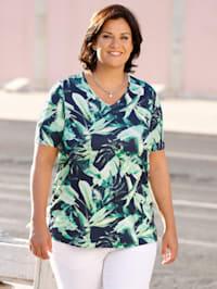 Shirt mit Blätterdesign