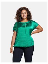 Shirt mit Satin-Front