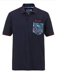 Poloshirt mit modischen Details