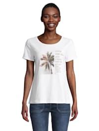 Rundhals-Shirt mit Placement
