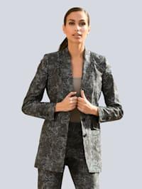 Sako s módním vzorem