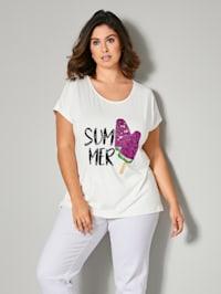 Shirt met zomers motief