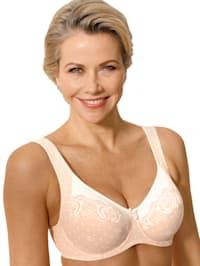 Underwire bra made from soft microfibre
