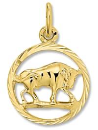 Damen Schmuck Sternzeichen Anhänger Stier aus 333 Gelbgold