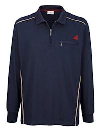 Poloshirt met contrastkleurige paspels