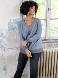 Pullover mit Kontrastverarbeitung