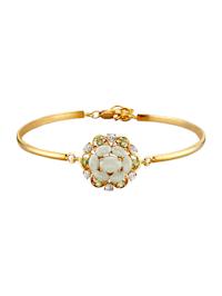 Armband met jade en peridot