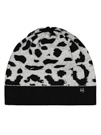 Leo-Mütze aus warmen Wolle-Mix