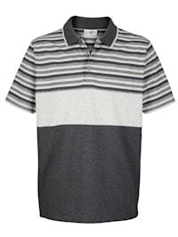 Tričko s prúžkami z farbených vlákien
