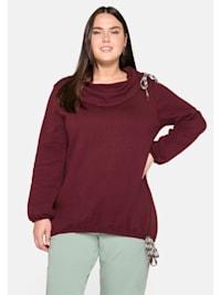 Sweatshirt im Mustermix, mit Schlauchkragen