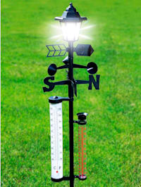Solar-Wetterstation mit Laterne