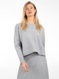 Oversized Pullover aus softer Viskose-Mischung mit Kaschmir