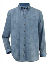 Jeansoverhemd met washed effecten