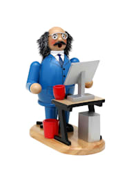 Holz Räuchermann am PC