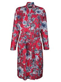 Badrock med vackert blommigt mönster