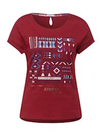 T-Shirt mit Ethno-Print