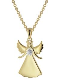 Halskette mit Engel 925 Sterlingsilber goldplattiert