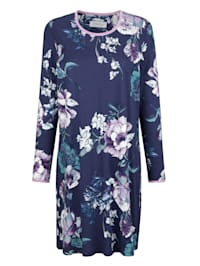 Nightdress with a floral print