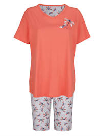 Pyjama met mooie knoopsluiting