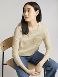 3/4 Arm Shirt mit Bio-Baumwolle