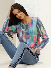 Pullover mit buntem Farbverlauf