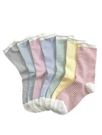 Dámske ponožky - 7 párov v balení