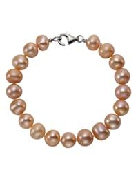Armband 925/- Sterling Silber Perle 19cm Glänzend