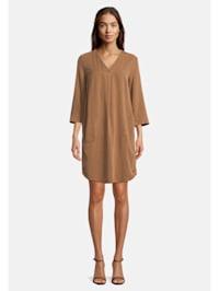 Casual-Kleid unifarben