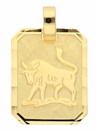 Damen & Herren Goldschmuck 333 Gold Sternzeichen Anhänger Stier