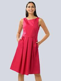 Princesskleid mit Faltenrock aus Baumwollpopeline