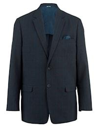 Sako s pekným károvaným vzorom