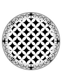 Vinyl-Teppich, rund