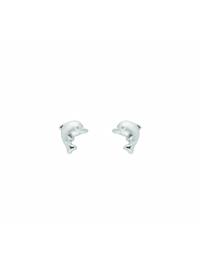 Damen Silberschmuck 925 Silber Ohrringe / Ohrstecker Delphin