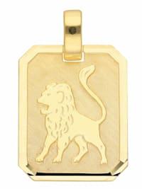 Damen & Herren Goldschmuck 333 Gold Sternzeichen Anhänger Löwe